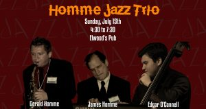 Sunday Jazz Afternoon Series with Homme Jazz Trio